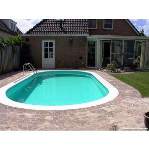 Zwembad ovaal Happy Pool 486 x 250 x 135 voorbeeld