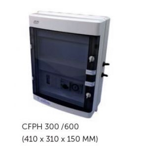 Elektrische schakelkast Cyrano filtratie + Transfo 600W + 30mA Diff. Monovoorkant