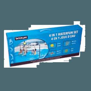 Vier -in-één waterspellenset verpakking