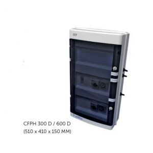 Elektrische schakelkast Cyrano filtratie + Transfo 600W + 30mA Diff. Trivoorkant