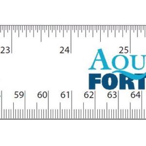 Aquaforte meetlint sticker ingezoomd
