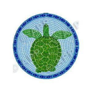 Drop-in Art: Mozaïek Schildpad voorbeeld