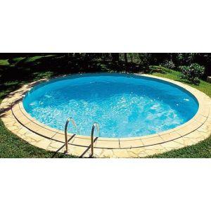 Zwembad ovaal Happy Pool 4.20Ø - 1.20 m diep  voorbeeld
