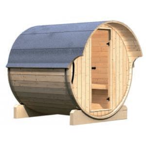 Interline barrelsauna Kotka 1 compleet buitenkant