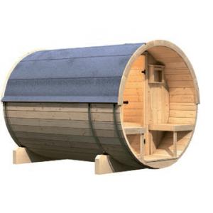 Interline barrelsauna Kotka 2 buitenkant