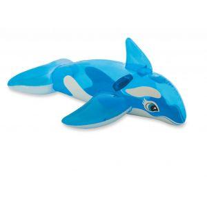 Opblaasbare walvis voorbeeld