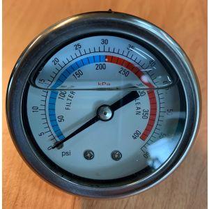 Manometer gevuld 0-60 PSI