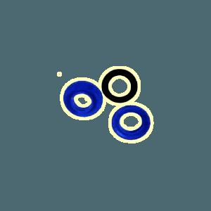 Plastiv trekoog in afdekking te slaan voorkant
