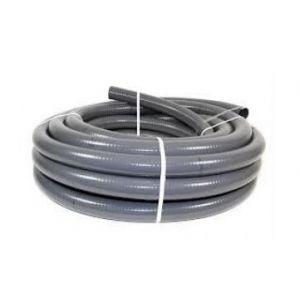 Flexibele PVC slang 43 mm x 50 mm grijs.