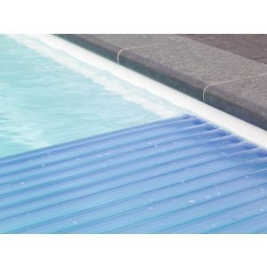 Roldeck lamellen - PVC Trans. Blauw voorbeeld 1
