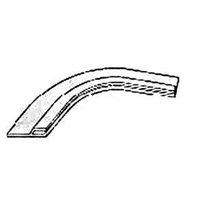 PVC profiel horizontaal, speciaal voor vrije vormen, 1,50 x 4,6 cm voorbeeld