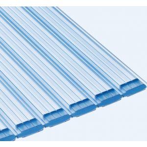 Aquadeck lamellen - PVC Trans. Blauw voorkant