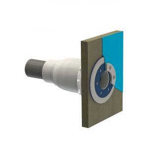 Spectravision polyesterdoorvoer voor baden met dunwandige polyester, RVS of houten baden voorbeeld