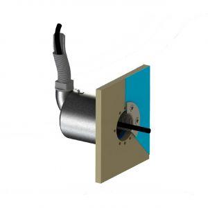 Spectravision RVS wanddoorvoer naar buis voorbeeld