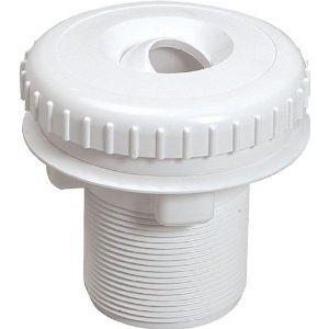 Witte wanddoorvoer met nozzle voorkant