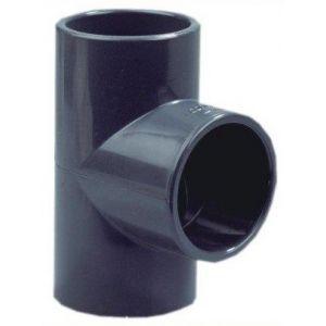 T-stuk 90 graden 25 mm voorkant